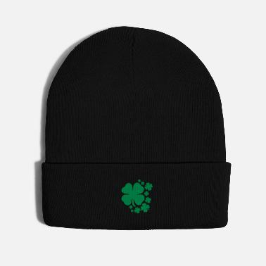 Lucky Clover clover st patrick's day lucky charm irish - Knit Cap