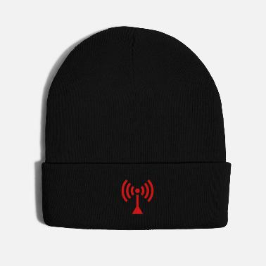 Brilliant WiFi AP icon in dark red - Knit Cap