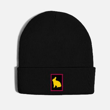 Stamp stamp with bunny - Knit Cap