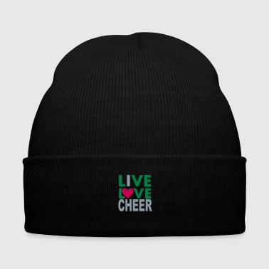 Live Love Cheer - Knit Cap with Cuff Print
