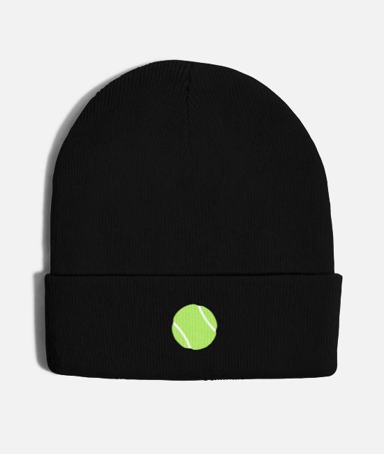 Tennis Caps & Hats - tennis ball - Knit Cap black