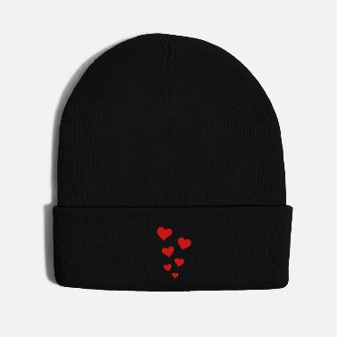 Heart Heart Hearts Love - Knit Cap