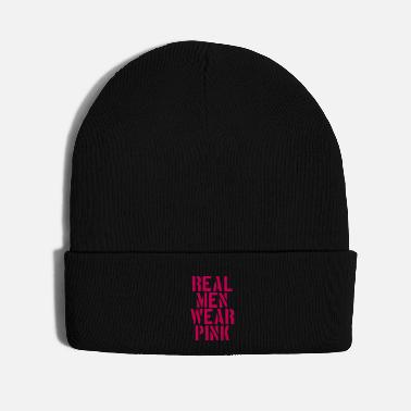 Wear Design Logo Real Men Wear Pink - Knit Cap