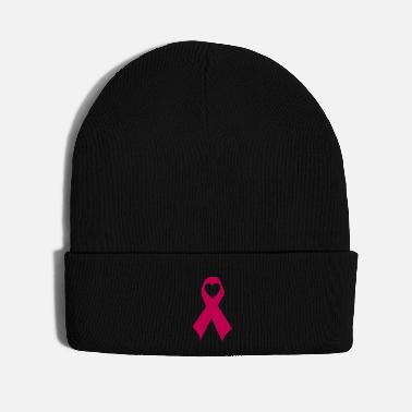 Form pink ribbon heart - Knit Cap