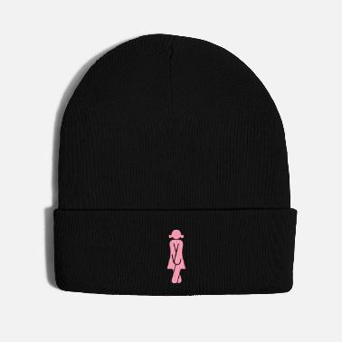 Restroom Woman in need of the Restroom (1c) - Knit Cap
