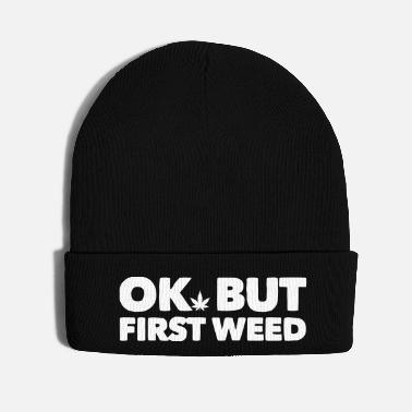 Puff Ok but first weed 5 - Knit Cap
