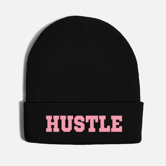 Hustle Caps - HUSTLE | WINTER BEANIE KNIT CAP - Knit Cap black