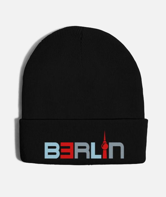 Alphabet Caps & Hats - berlin television tower sightseeing - Knit Cap black