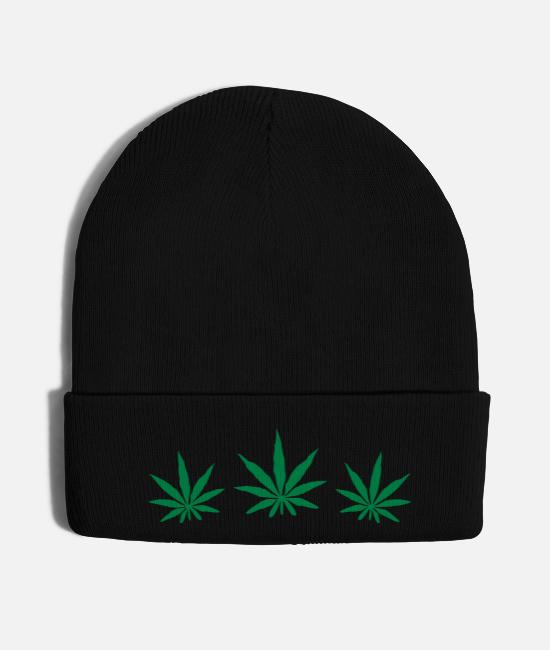High Caps & Hats - Weed Design - Knit Cap black