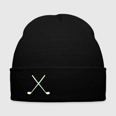 Golf Clubs - Knit Cap with Cuff Print
