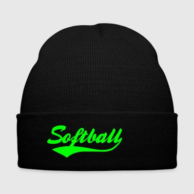 Softball Swash - Knit Cap with Cuff Print