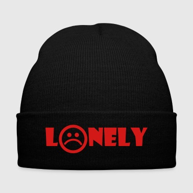 LONELY - Knit Cap with Cuff Print