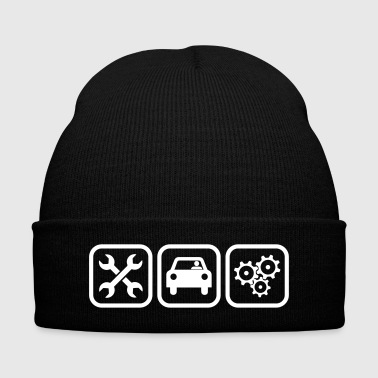 Motor Mechanic - Knit Cap with Cuff Print