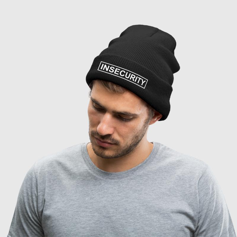 INSECURITY - Knit Cap with Cuff Print