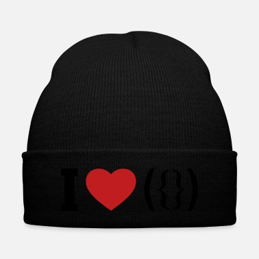 Affection I LOVE PUSSY - ASCII - Knit Cap