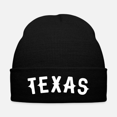 Texas Texas Western styled letters - Knit Cap with Cuff Print