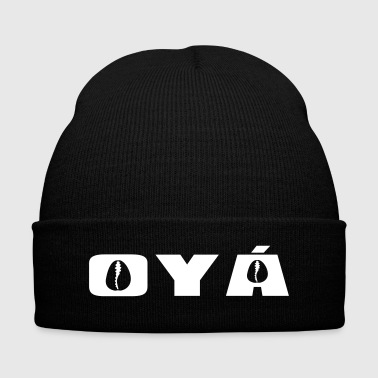 Oya - Knit Cap with Cuff Print