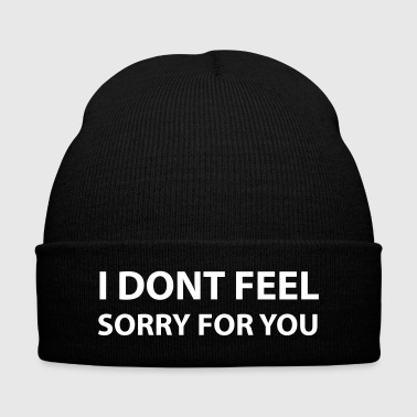 I dont feel - Knit Cap with Cuff Print