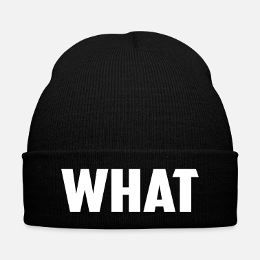 Word what word - Knit Cap with Cuff Print