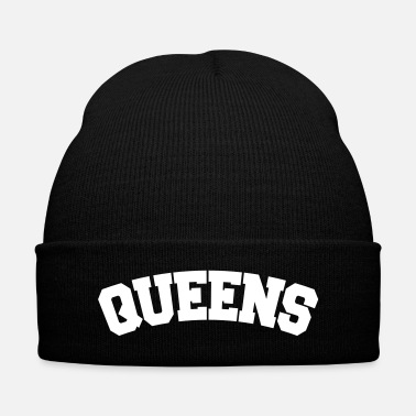 Nyc QUEENS, NYC - Knit Cap with Cuff Print