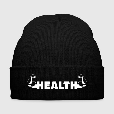 Healthy Lifestyle / Present / Health / Strong - Knit Cap with Cuff Print