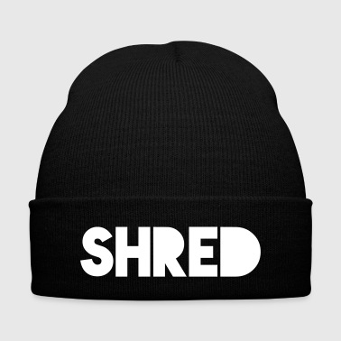 Shred - Knit Cap with Cuff Print
