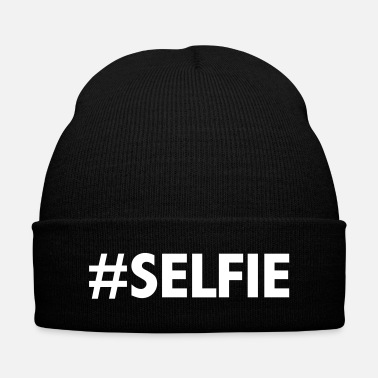 Selfie #Selfie - Knit Cap with Cuff Print