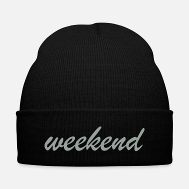 Weekend weekend - Knit Cap with Cuff Print