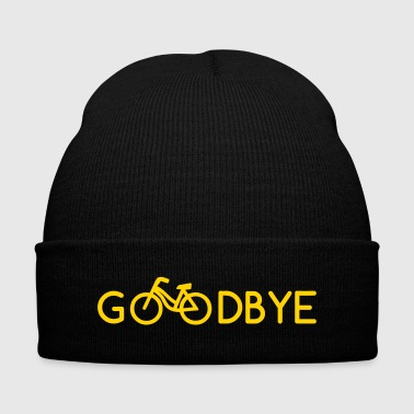 GOODBYE BICYCLE (v) - Knit Cap with Cuff Print