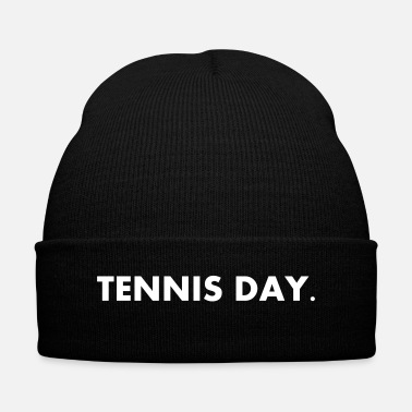 Day Tennis Day - Knit Cap with Cuff Print