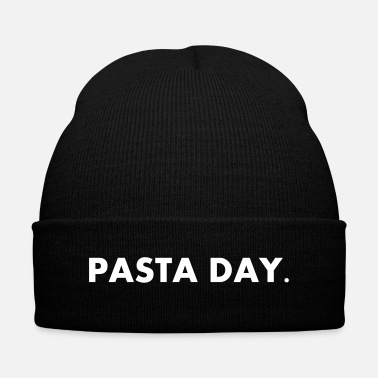 Day Pasta Day - Knit Cap with Cuff Print