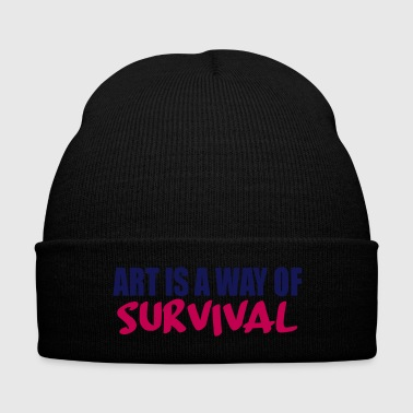 art is a way - Knit Cap with Cuff Print