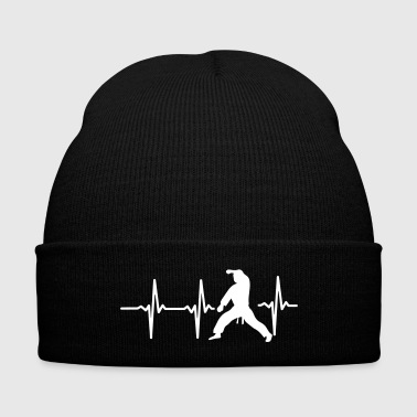MY HEART BEAT FOR MARTIAL ARTS! - Knit Cap with Cuff Print