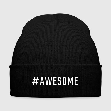#AWESOME - Knit Cap with Cuff Print