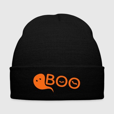 Boo BOO Monster Halloween - Knit Cap with Cuff Print