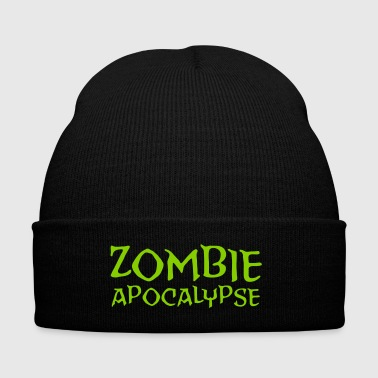 The Zombie Apocalypse is Coming! - Knit Cap with Cuff Print