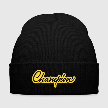 Champion - Knit Cap with Cuff Print