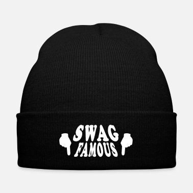 Popular Knit Swag Famous 2 knit cap - Knit Cap with Cuff Print