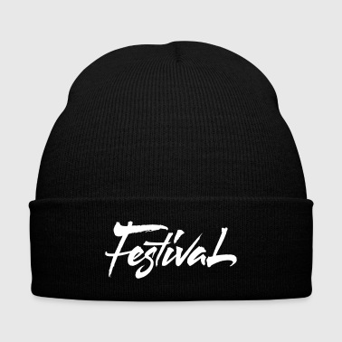 Festival - Knit Cap with Cuff Print