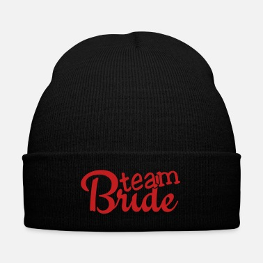 Bride team bride 1c - Knit Cap with Cuff Print
