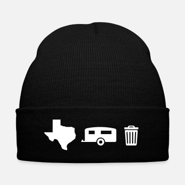 Texas Texas Trailer Trash (Icons - Horizontal/Light Hue) - Knit Cap with Cuff Print
