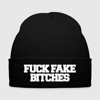 Fake Fuck fake bitches - Knit Cap with Cuff Print