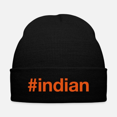 India INDIA - Knit Cap with Cuff Print