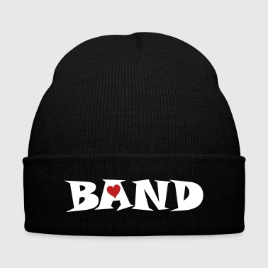 Band Small Heart - Knit Cap with Cuff Print
