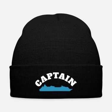 Captain Cruise ship captain t shirt or costume - Knit Cap with Cuff Print