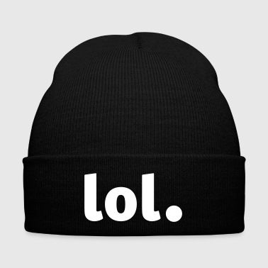 lol - Laughing out Loud - Knit Cap with Cuff Print
