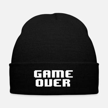 Game GAME OVER - Knit Cap with Cuff Print
