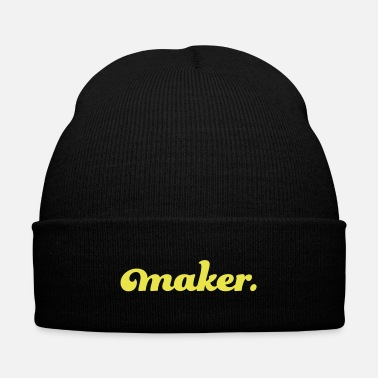 Text maker text - Knit Cap with Cuff Print