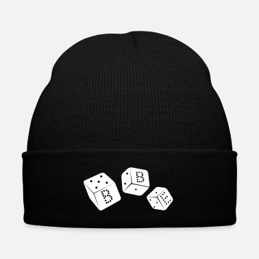 Dice black box_vector2 - Knit Cap with Cuff Print