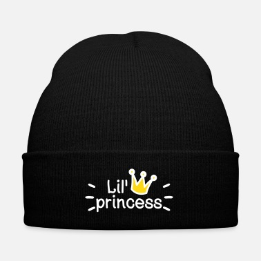 Siblings lil little princess - Knit Cap with Cuff Print
